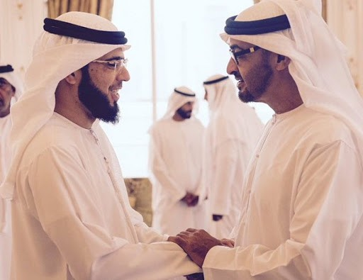وسيم يوسف ومحمد بن زايد