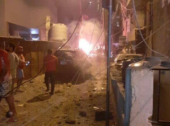 انفجار خزان للوقود في بيروت