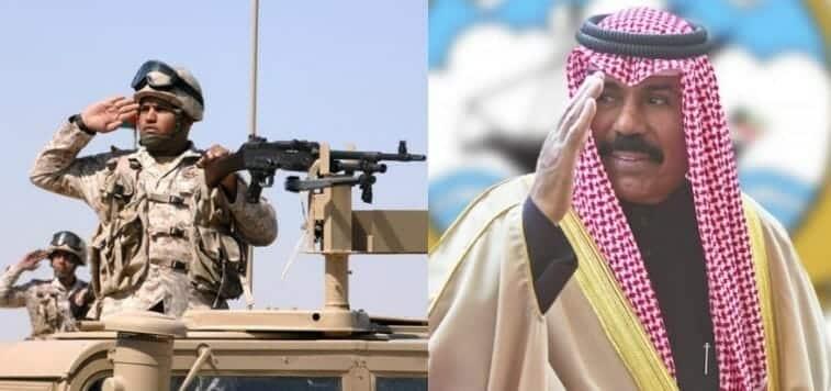 أمير الكويت الشيخ نواف الأحمد يشيد بالجيش الكويتي