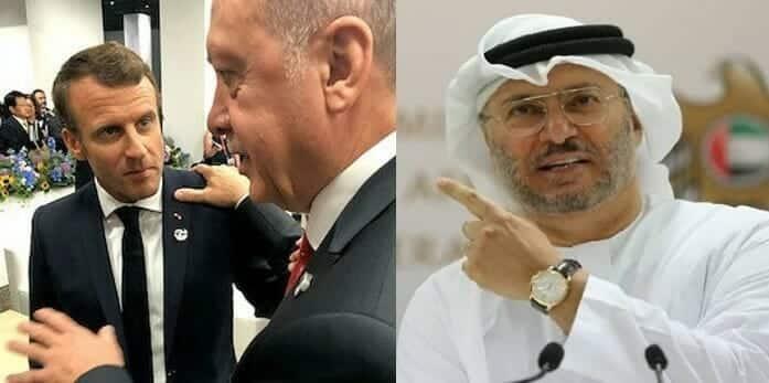 أنور قرقاش يدافع عن ماكرون ويهاجم اردوغان