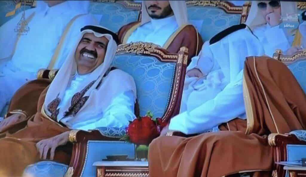 الشيخ خليفة بن حمد والأمير تميم قطر الإمارات
