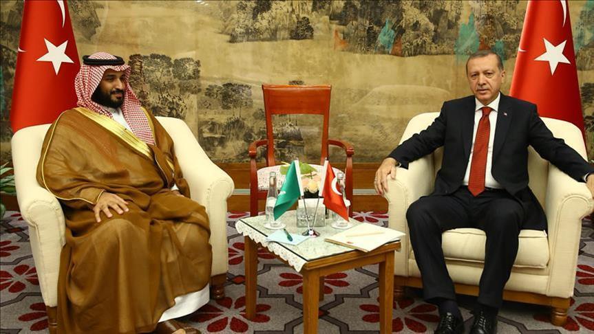 محمد بن سلمان ورجب طيب أردوغان- تركيا السعودية