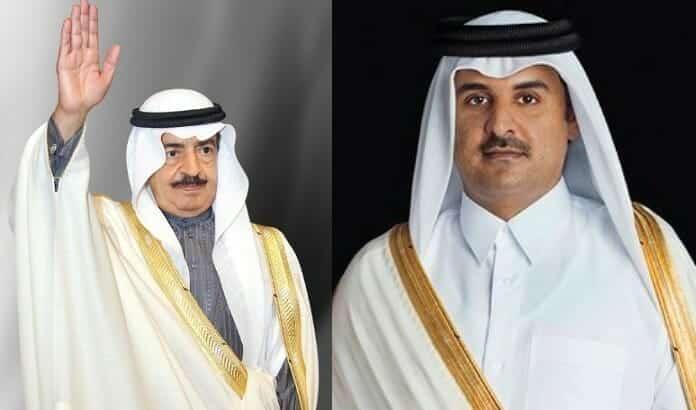 امير قطر يعزي اسرة رئيس الوزراء البحريني بوفاته