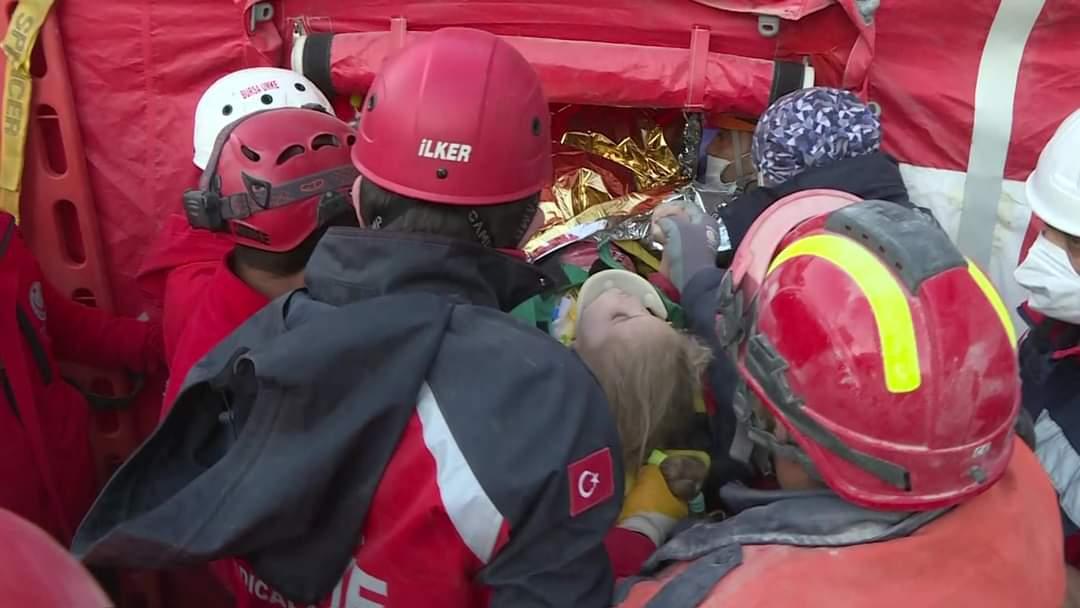 انقاذ طفل تركي السلطات التركية
