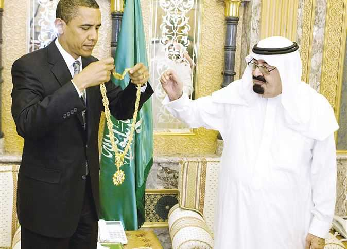 باراك أوباما والملك عبدالله
