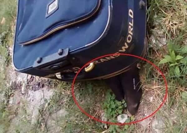 جثة في حقيبة