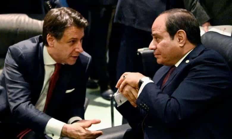 جوزيبي كونتي رئيس وزراء إيطاليا و السيسي