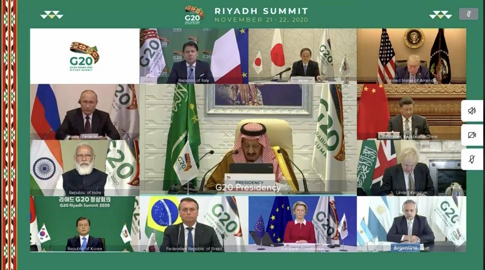 زعماء العالم في قمة العشرين