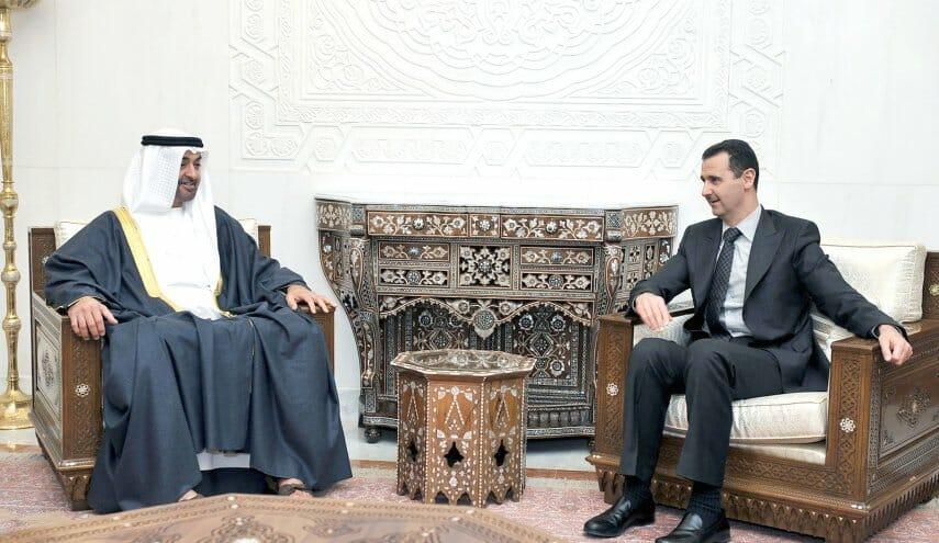 شحنة من الدولارات أرسلها محمد بن زايد الى بشار الأسد عبر ضاحي خلفان
