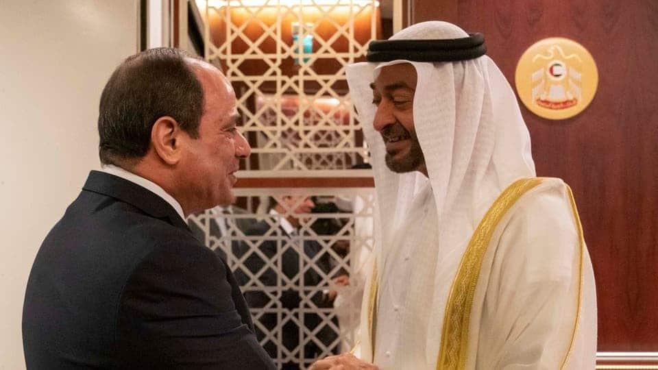 عبدالفتاح السيسي ومحمد بن زايد- المصالح مصر الإمارات
