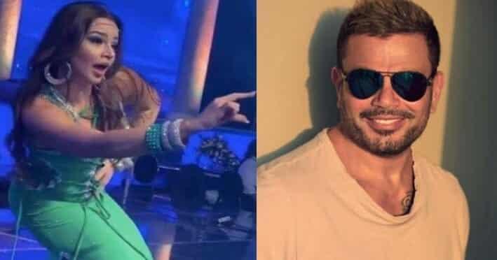 عمرو دياب و الراقصة جوهرة