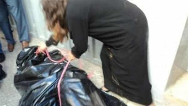 الزوجة الكويتية التي قتلت زوجها وضع جثته بكيس بلاستيكي ثم قامت بلفه بسجادة