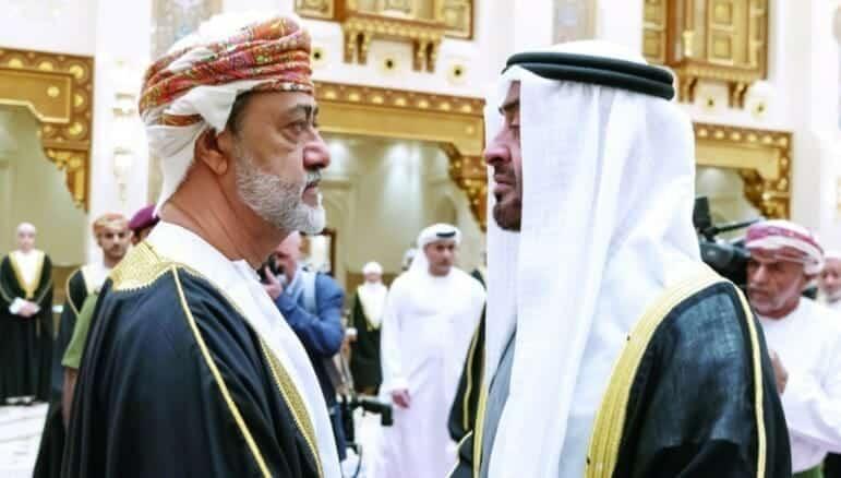 محمد بن زايد - السلطان هيثم بن طارق