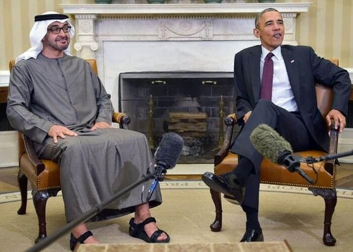 محمد بن زايد و أوباما