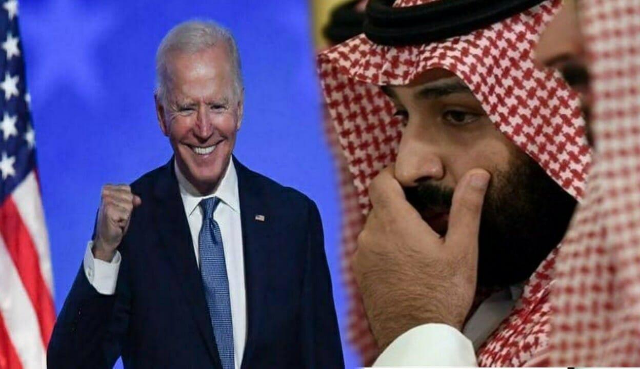 محمد بن سلمان وجو بايدن-ابن سلمان السفارة الامريكية