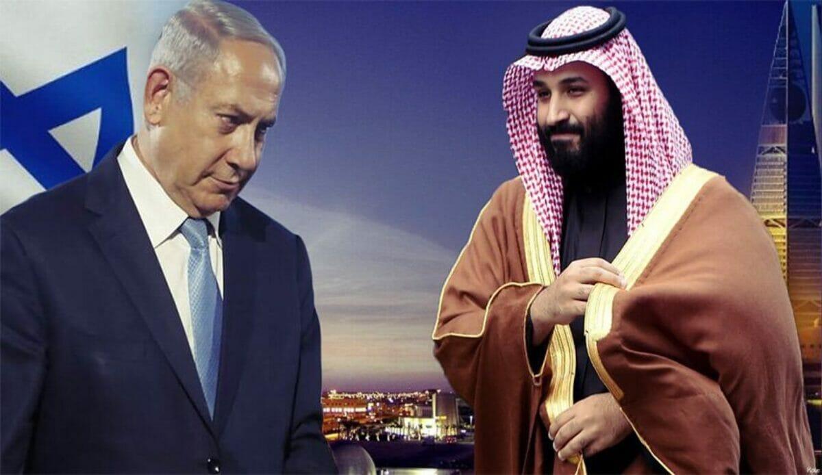 محمد بن سلمان ونتنياهو-تطبيع السعودية مع اسرائيل
