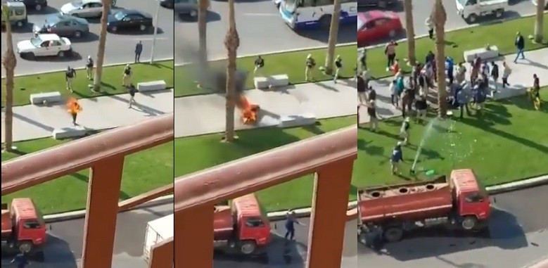 """بوعزيزي مصري في ميدان التحرير .. صرخ بأعلى صوته: """"يا بلدنا يا تكية ماسكينك شوية حرامية"""" ثم أشعل النار في جسده"""