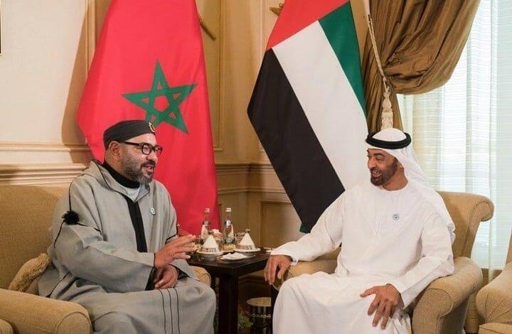 ملك المغرب ومحمد بن زايد ، قنصلية الإمارات