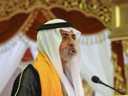 وزير التسامح الإماراتي نهيان بن مبارك آل نهيان المتهم باغتصاب بريطانية