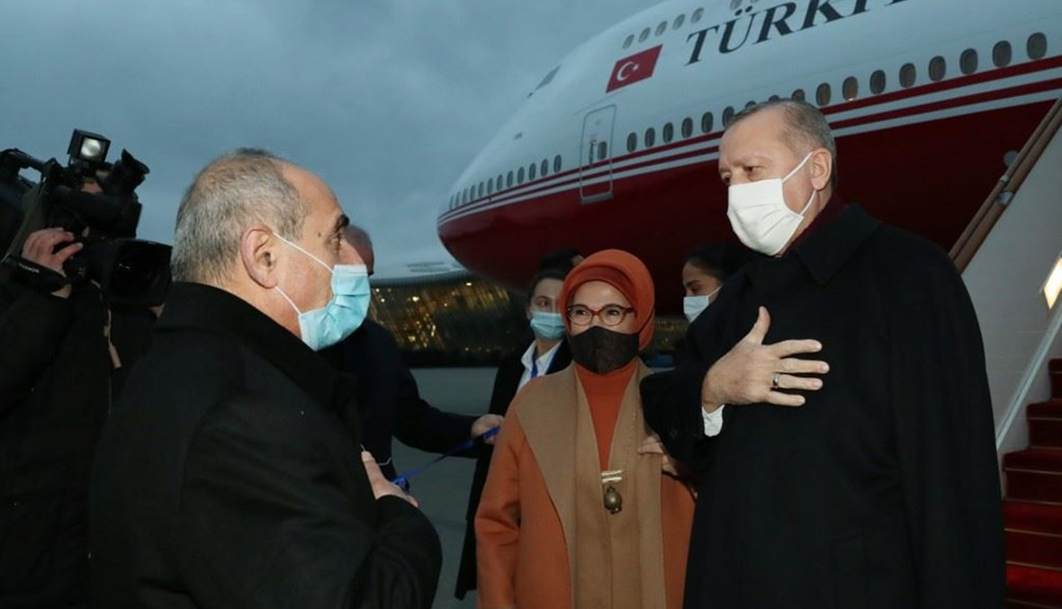 أردوغان يصل أذربيجان-قره باغ