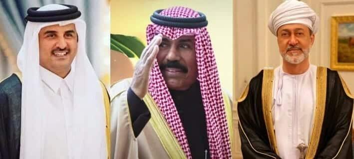 أمير قطر يبحث المصالحة الخليجية مع أمير الكويت و سلطان عمان