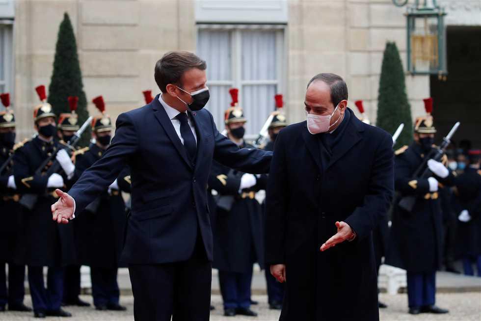 إيمانويل ماكرون والسيسي زيارة السيسي لفرنسا