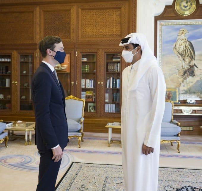الأمير تميم بن حمد وجاريد كوشنر