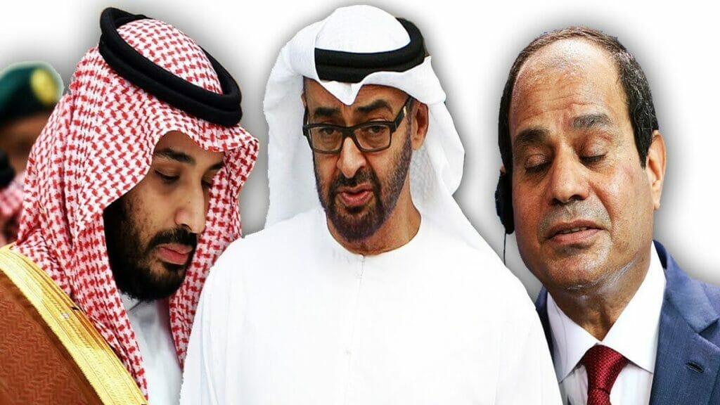 السيسي ومحمد بن زايد ومحمد بن سلمان بايدن