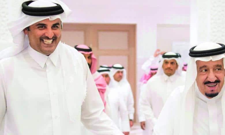 الشيخ تميم بن حمد وملك السعودية سلمان بن عبدالعزيز- المصالحة السعودية وقطر