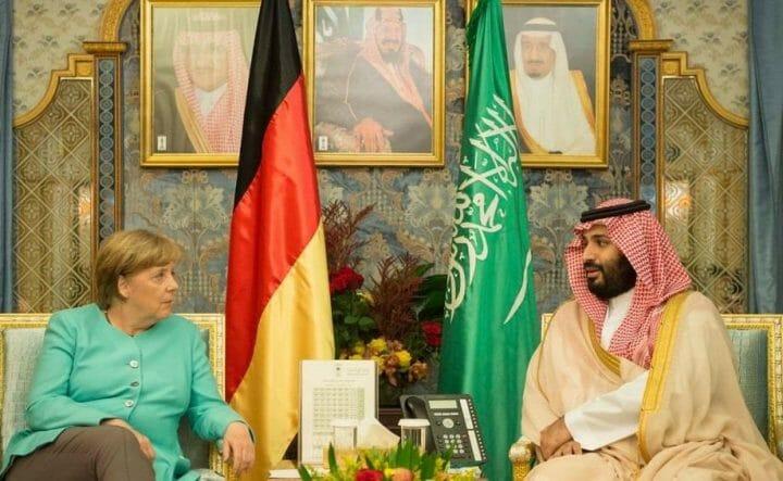 المستشارة الالمانية ومحمد بن سلمان- الحكومة الألمانية السعودية