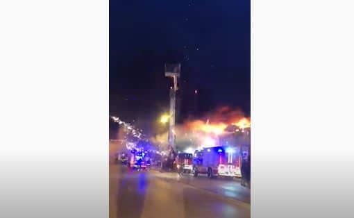 انفجار مخزن للالعاب النارية