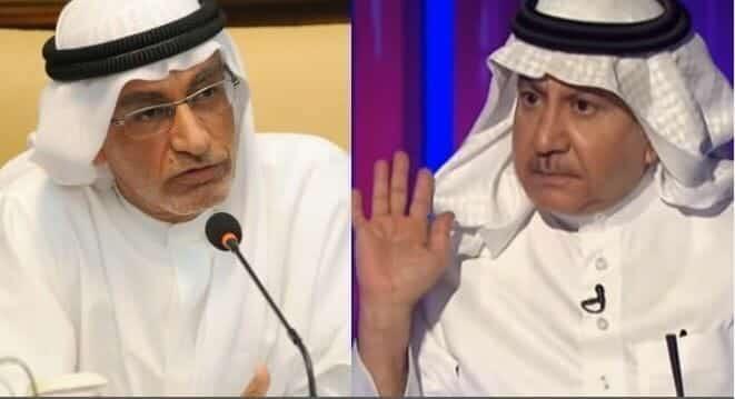 تركي الحمد وعبدالخالق عبدالله