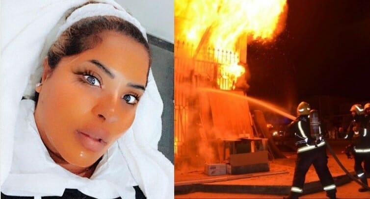 حريق في منزل هيا الشعيبي ونجاة ابنتها من الموت بأعجوبة