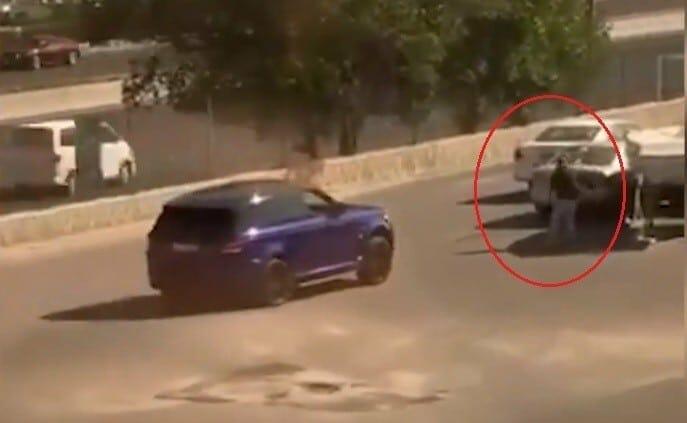 دهس مواطن كويتي من سائق رنج روفر بعد شجار