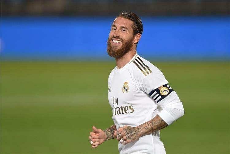 مدافع ريال مدريد الاسباني سيرجيو راموس