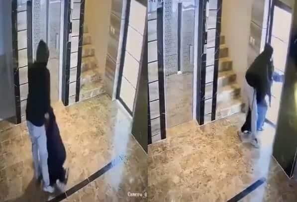 شاب يعتدي على سيدة منقبة في السعودية