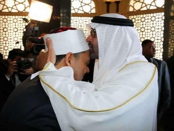 شيخ الأزهر أحمد الطيب ومحمد بن زايد