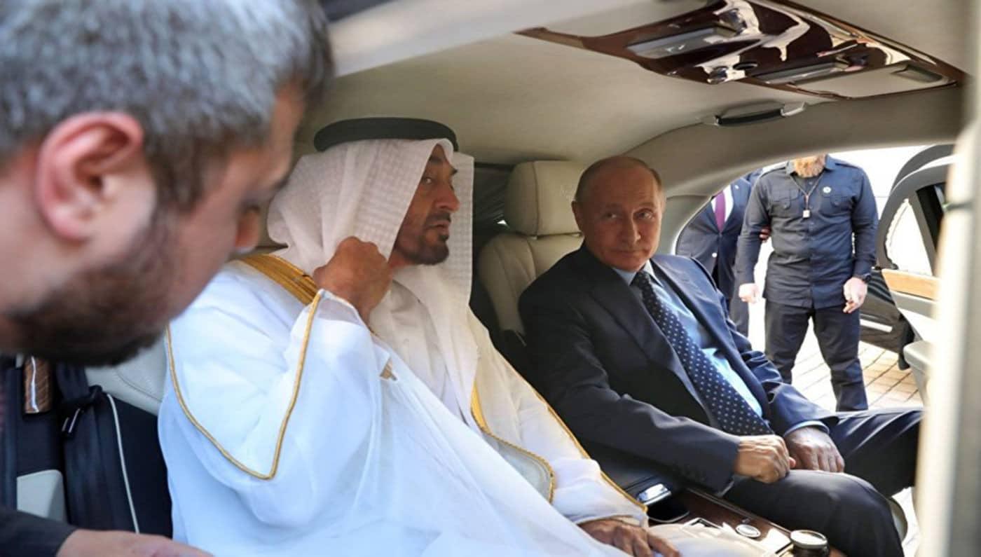 رئيس روسيا فلاديمير بوتين ومحمد بن زايد