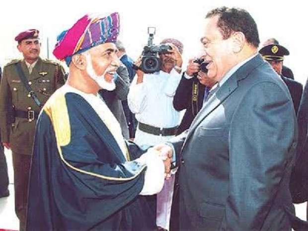 قابوس بن سعيد وحسني مبارك