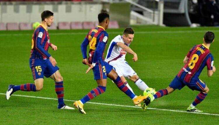 مباراة بشلونة وإيبار بالدوري الإسباني