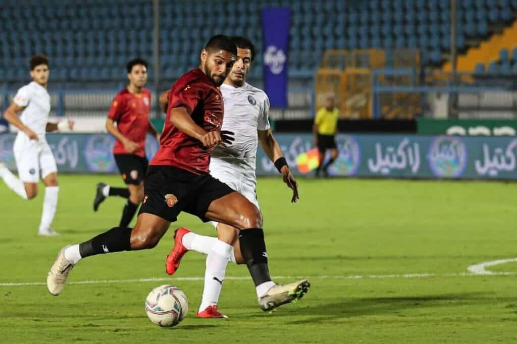 مباراة سيراميكا وبيراميدز في الدوري المصري الممتاز