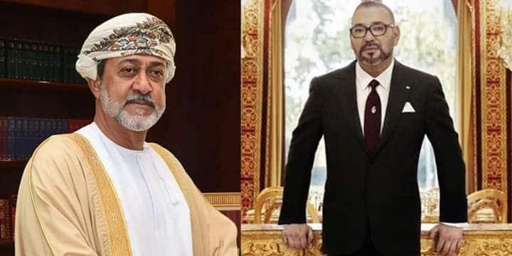 محمد السادس وسلطان عمان هيثم بن طارق