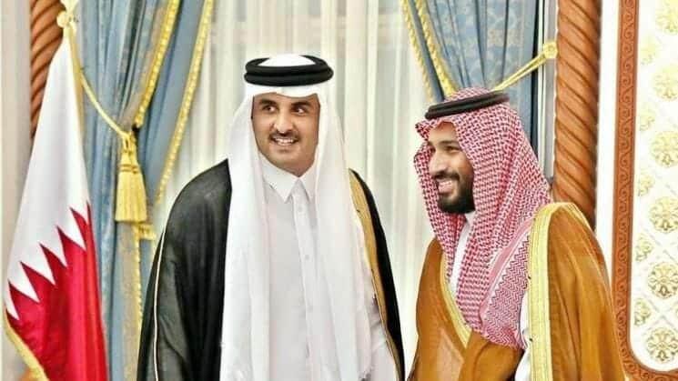 محمد بن سلمان وتميم بن حمد قطر السعودية