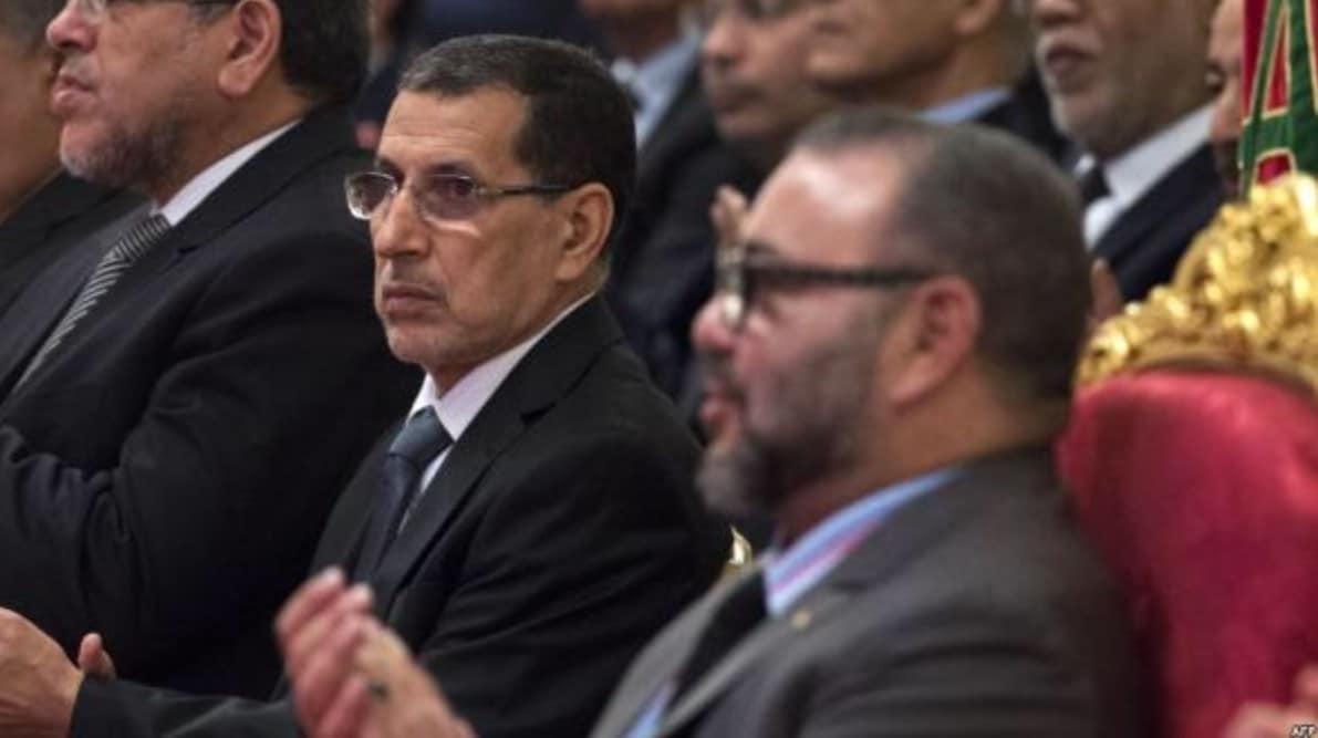 ملك المغرب ورئيس وزراءه-سعد الدين العثماني