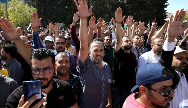إضراب نقابة المعلمين الأردنيين