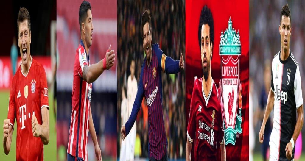 هدافي دوريات كرة القدم في الدوريات الخمس الأوروبية