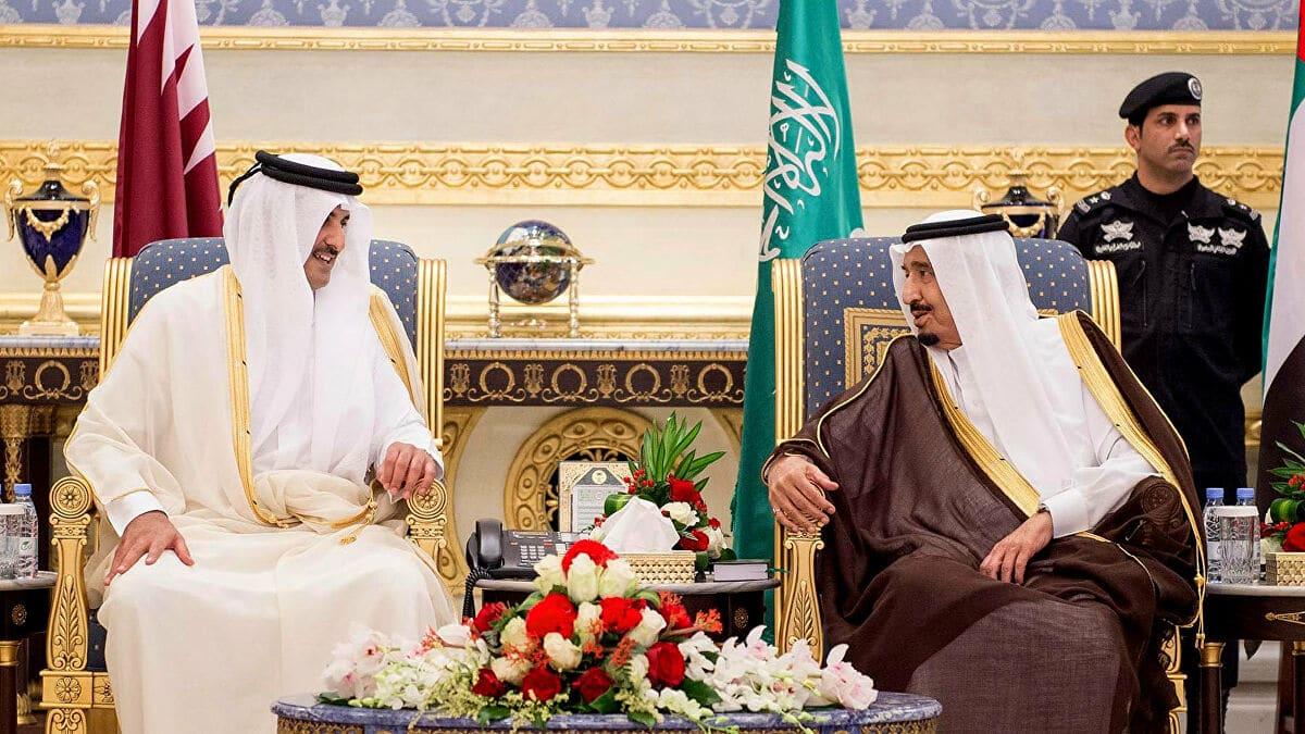 أمير قطر يعزي الملك سلمان بوفاة الأميرة طرفة