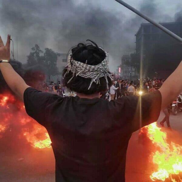 احتجاجات في ساحة الحبوبي
