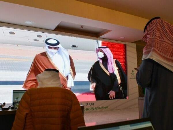 الامير تميم ومحمد بن سلمان قمة العلا