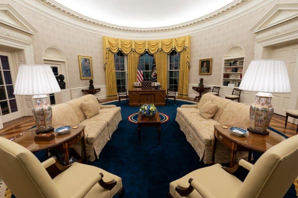 بايدن يعيد تصميم البيت الأبيض من جديد